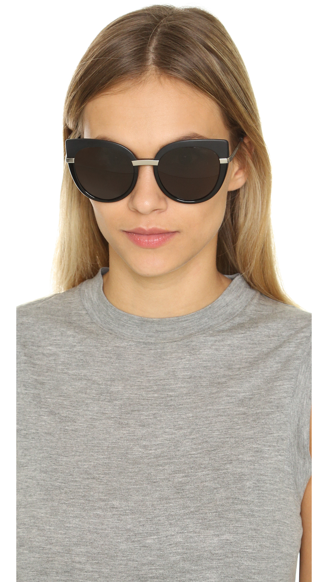 Marc Jacobs Cat Eye Sunglasses  marc by marc jacobs cat eye sunglasses black brown grey in black