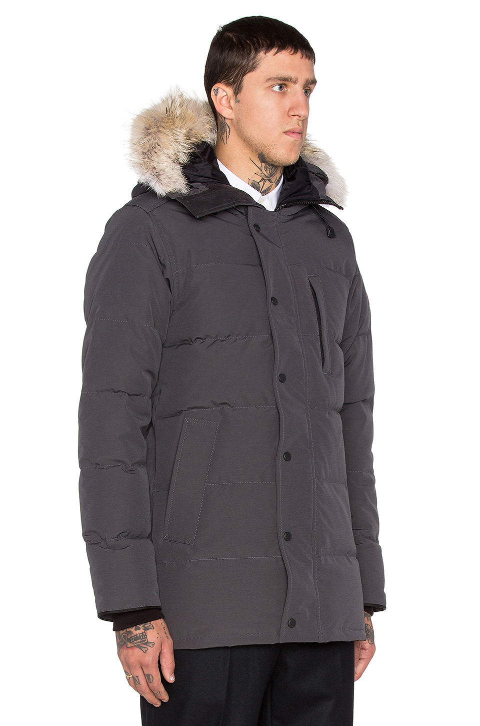 Canada Goose jackets sale authentic - Canada goose Carson Coyote Fur Trim Parka in Gray for Men ...