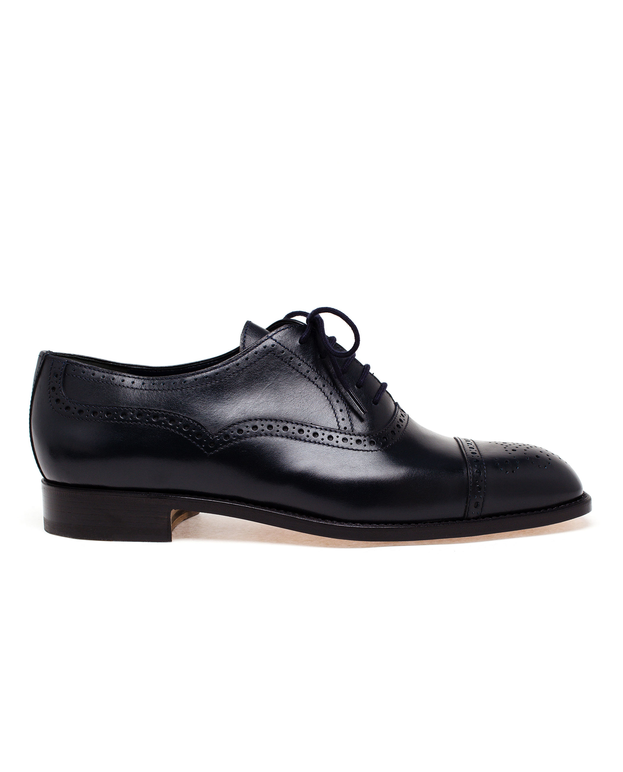 Navy Blue Oxford Shoes Men