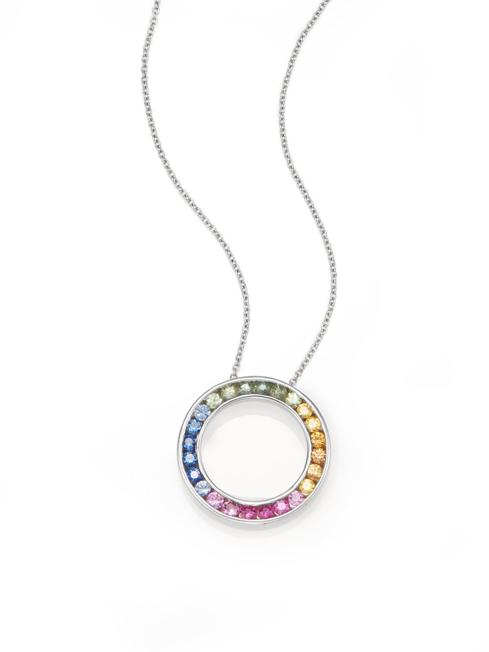 oval laurenza multi sapphire multicolored pave jewelry m product c by l earring gallery matthew campbell mcl lyst