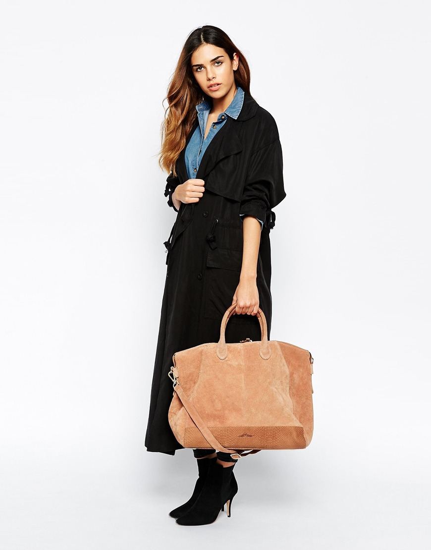 Urbancode Leather Weekend Bag in Brown | Lyst