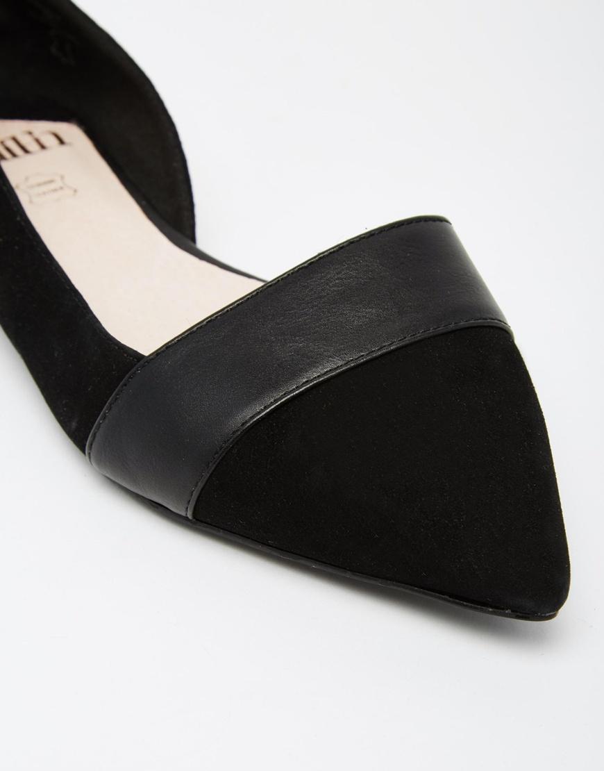 Foi Lasercut Chaussures Plates - Noir MP9H4Gx