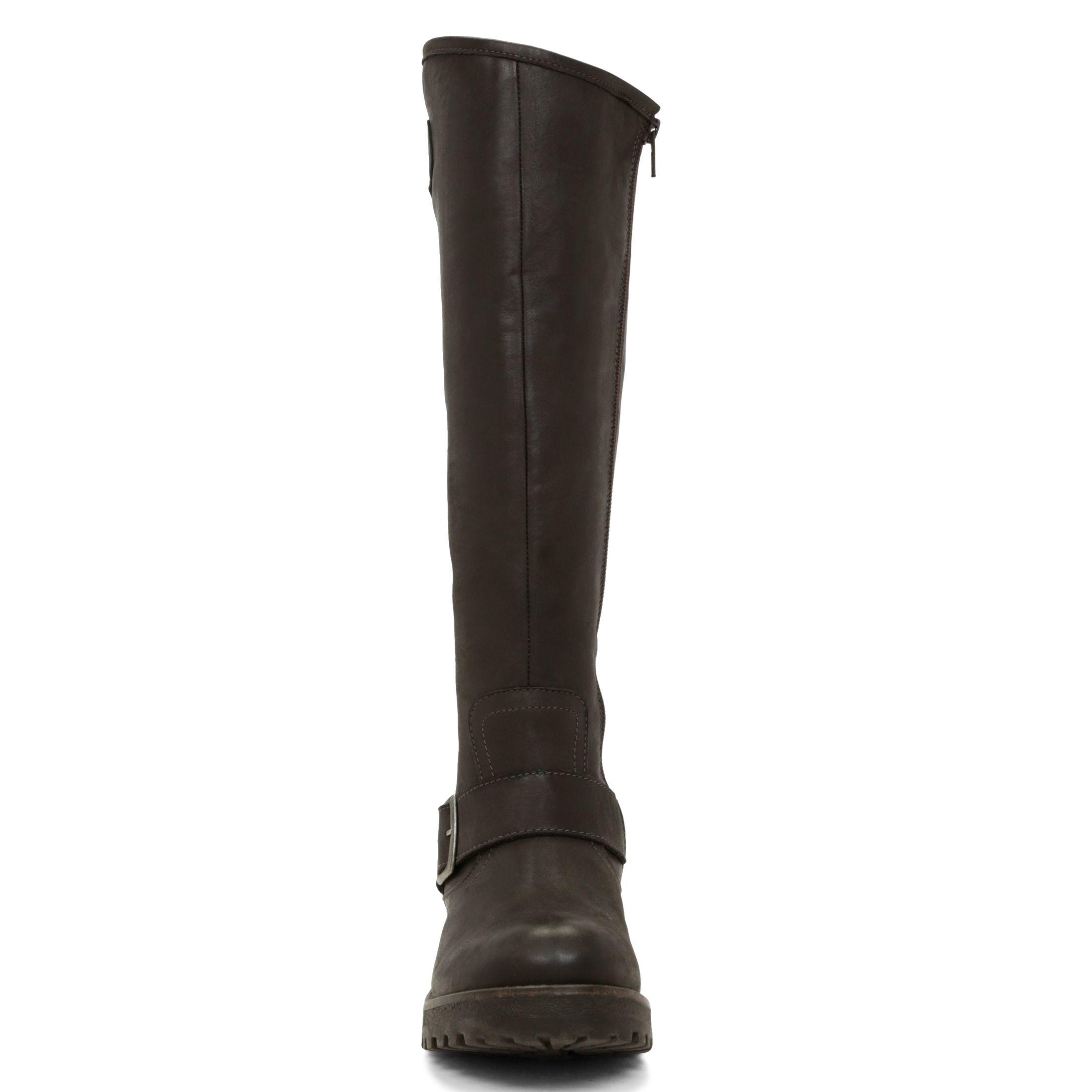 aldo beskra buckle knee high boots in brown lyst