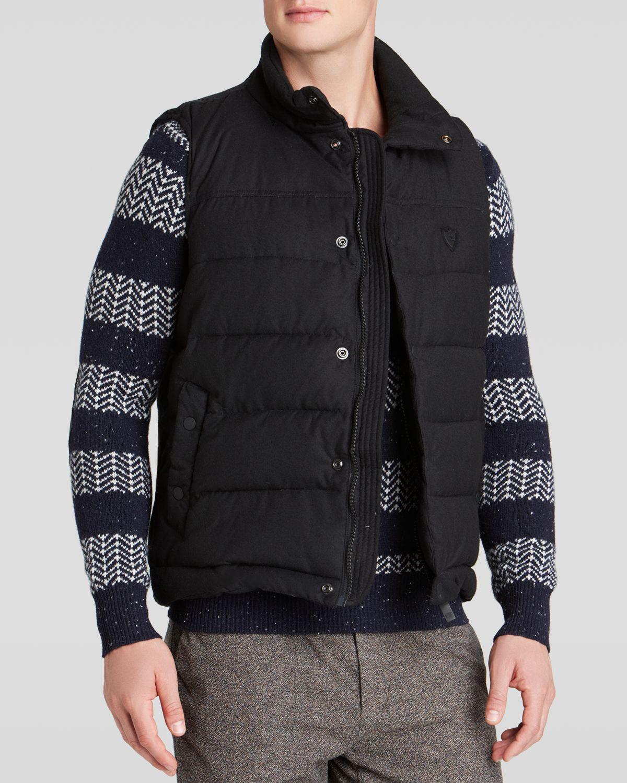 lyst scotch soda quilted vest in black for men. Black Bedroom Furniture Sets. Home Design Ideas