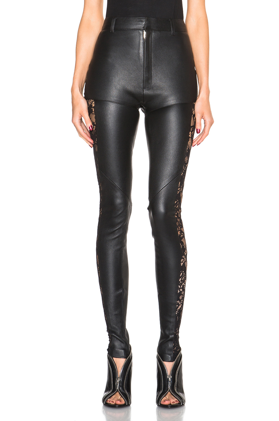 83aa091e34afa Gallery. Previously sold at: FORWARD · Women's Black Leather Pants ...