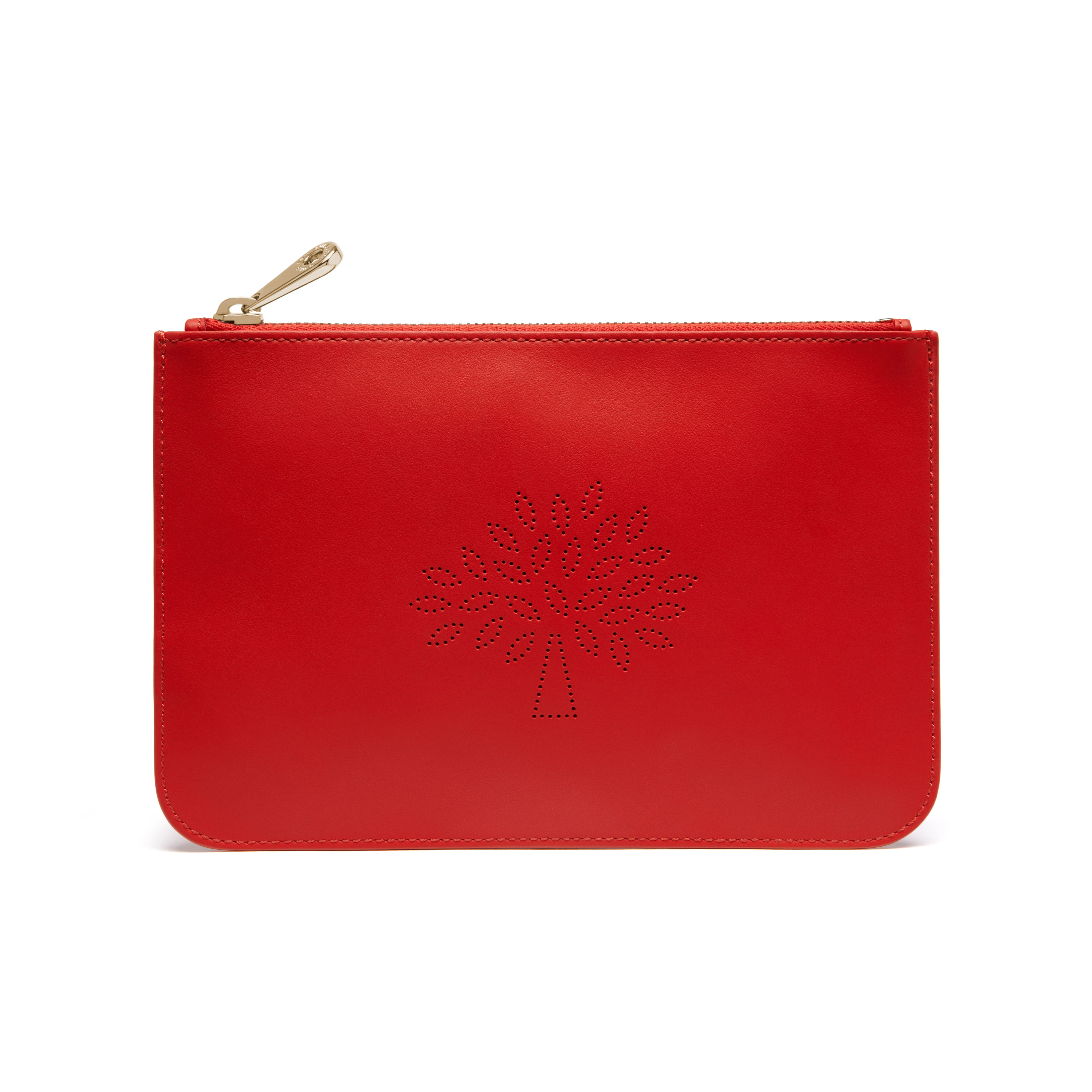 Mulberry Blossom Small Pouch In Red Lyst