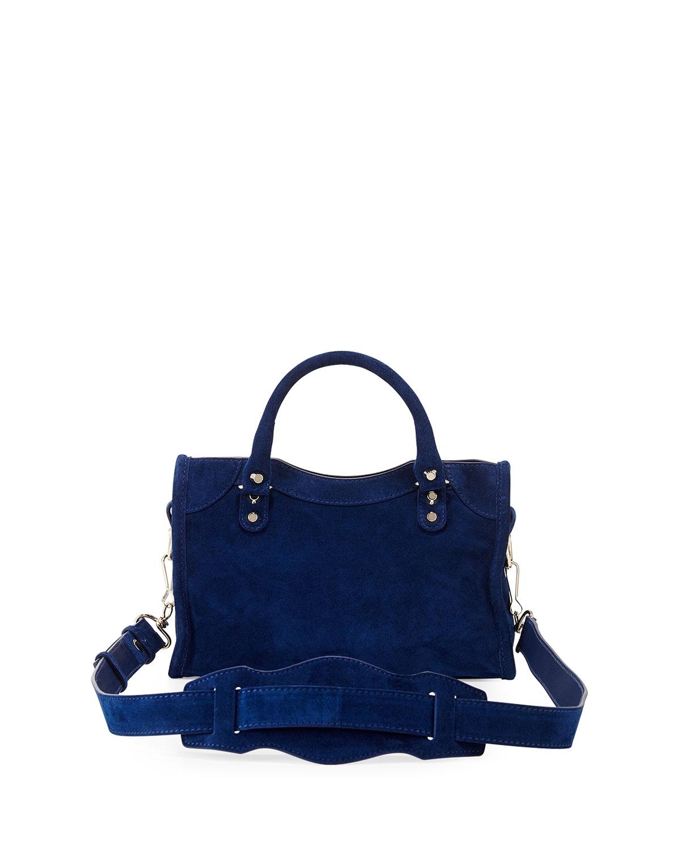 98c9230e57 Lyst - Balenciaga Classic City Mini Suede Bag in Blue