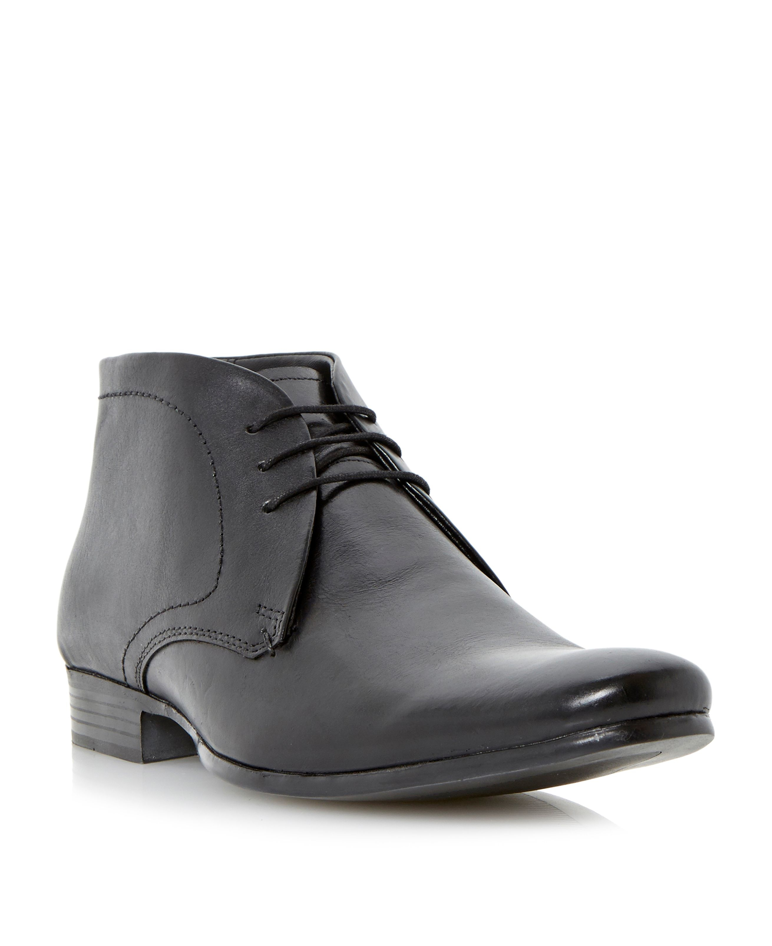howick lace up casual desert boots in black for men lyst