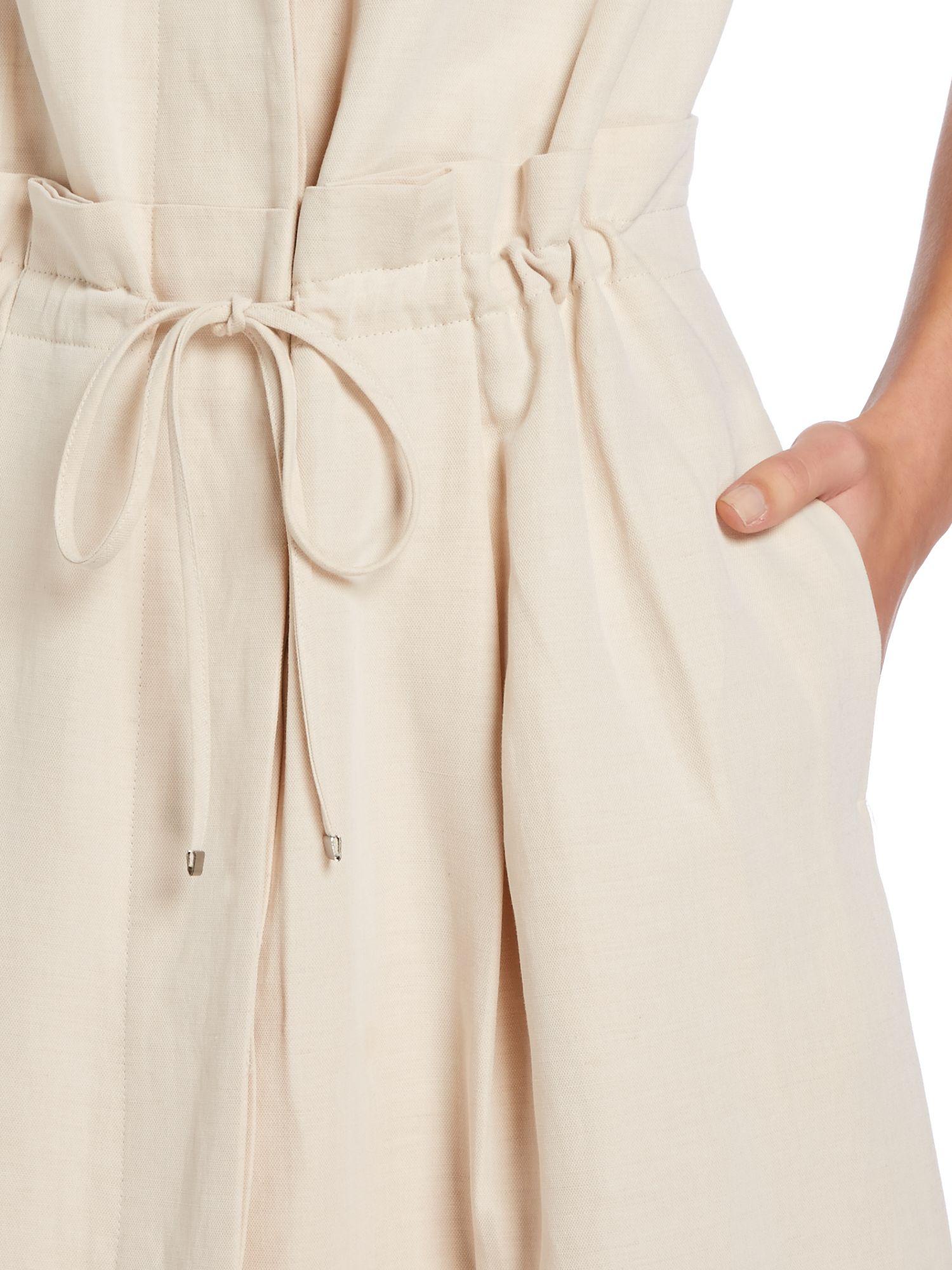 Max Mara Fabio Linen Shirt Dress In White Lyst