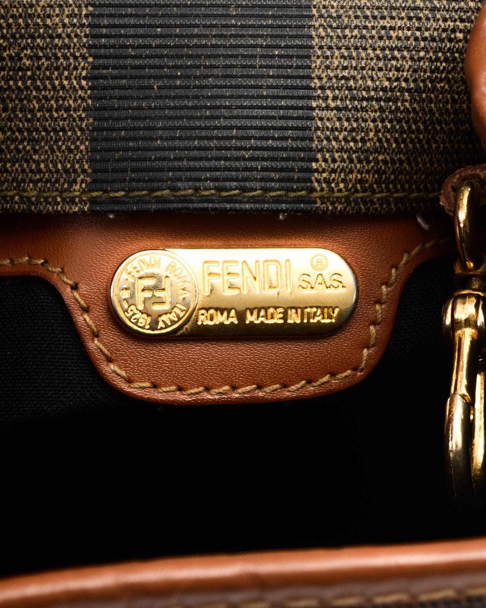 Lyst - Fendi Brown Backpack - Vintage in Black ef466be5f2ca8