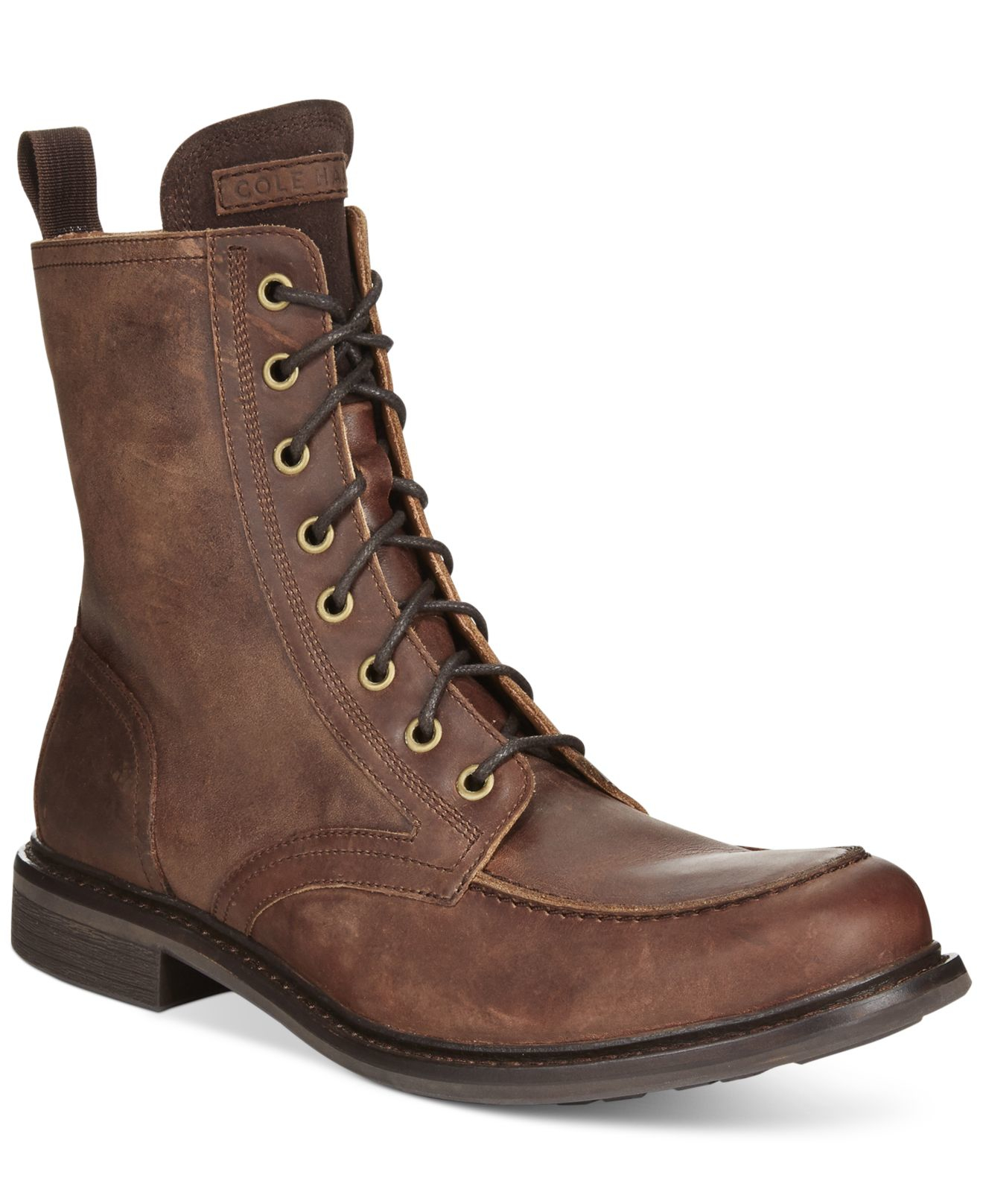 cole haan bryce moc toe boot in brown for lyst