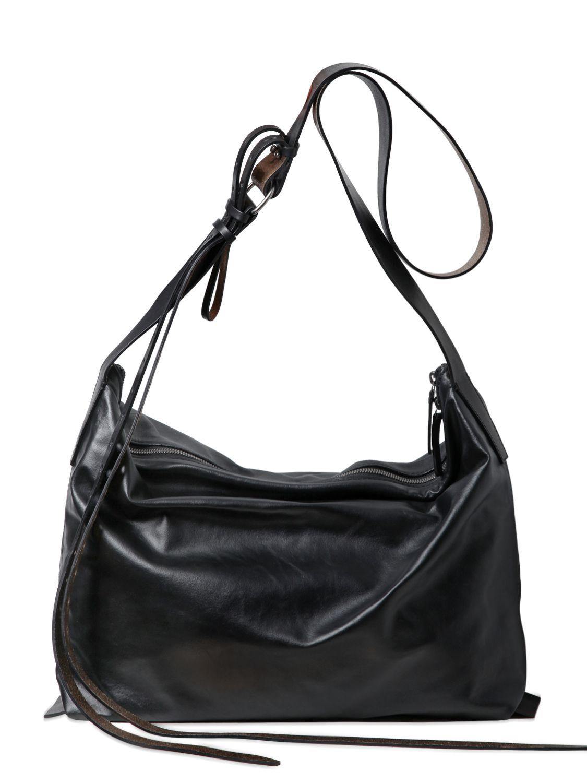 Ann Demeulemeester Leather Shoulder Bag In Black Lyst