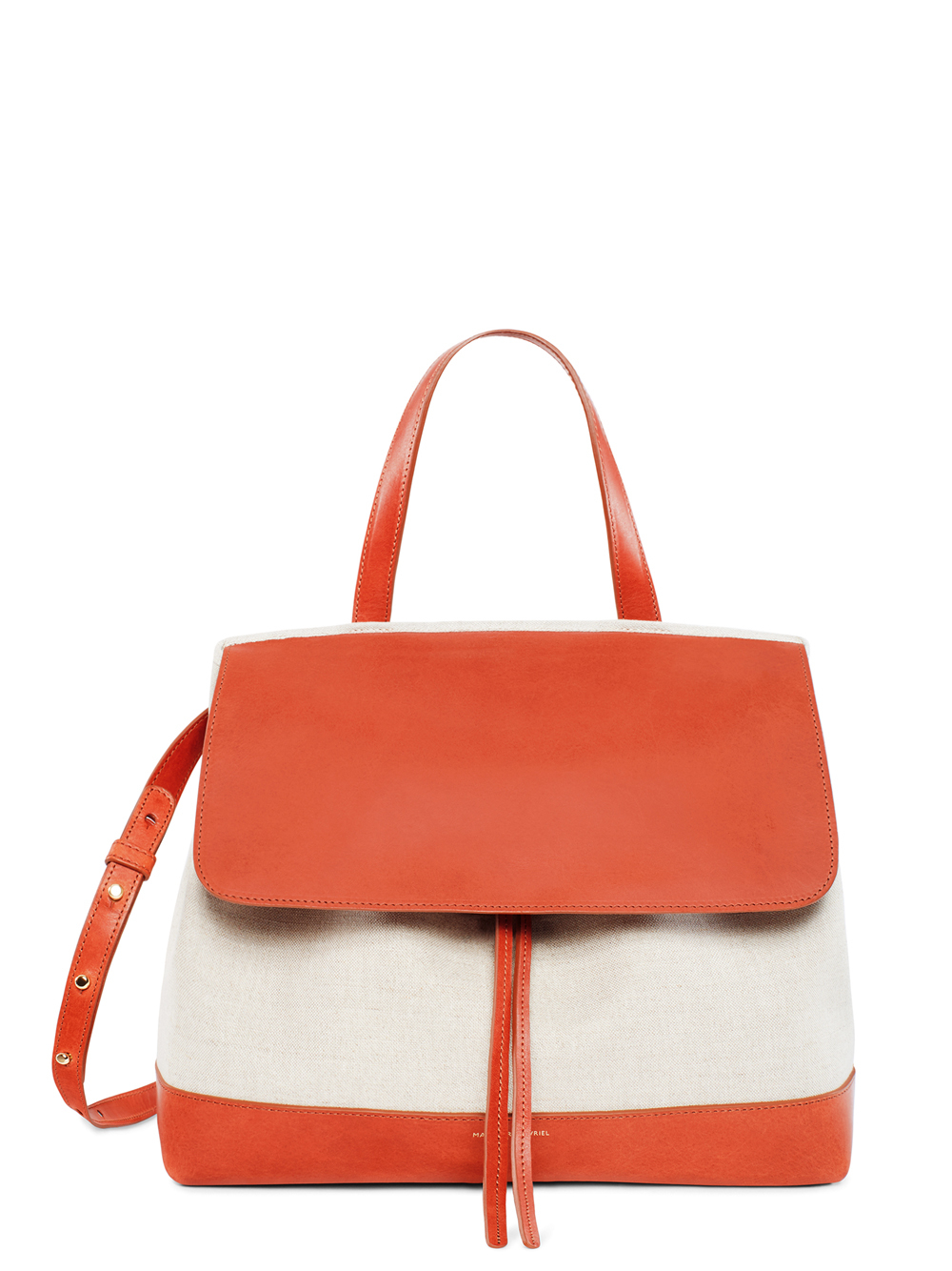 bc3380d99a7b Lyst - Mansur Gavriel Lady Canvas And Leather Tote Bag in Orange