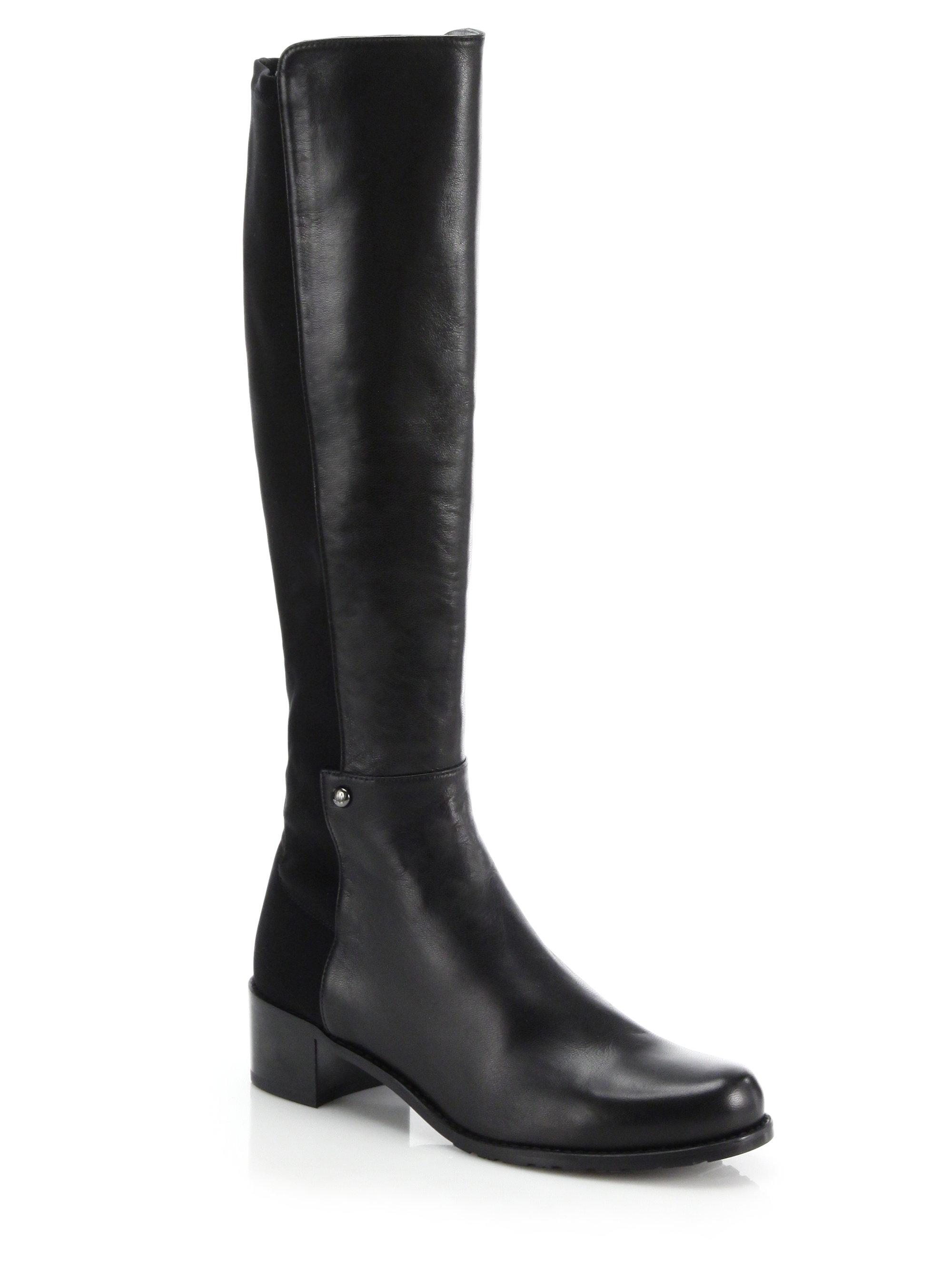 Lyst Stuart Weitzman Mezzamezza Leather Knee High Boots