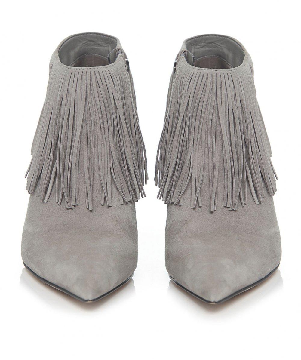 41843e7b3 Lyst - Sam Edelman Kandice Suede Fringe Boots in Gray