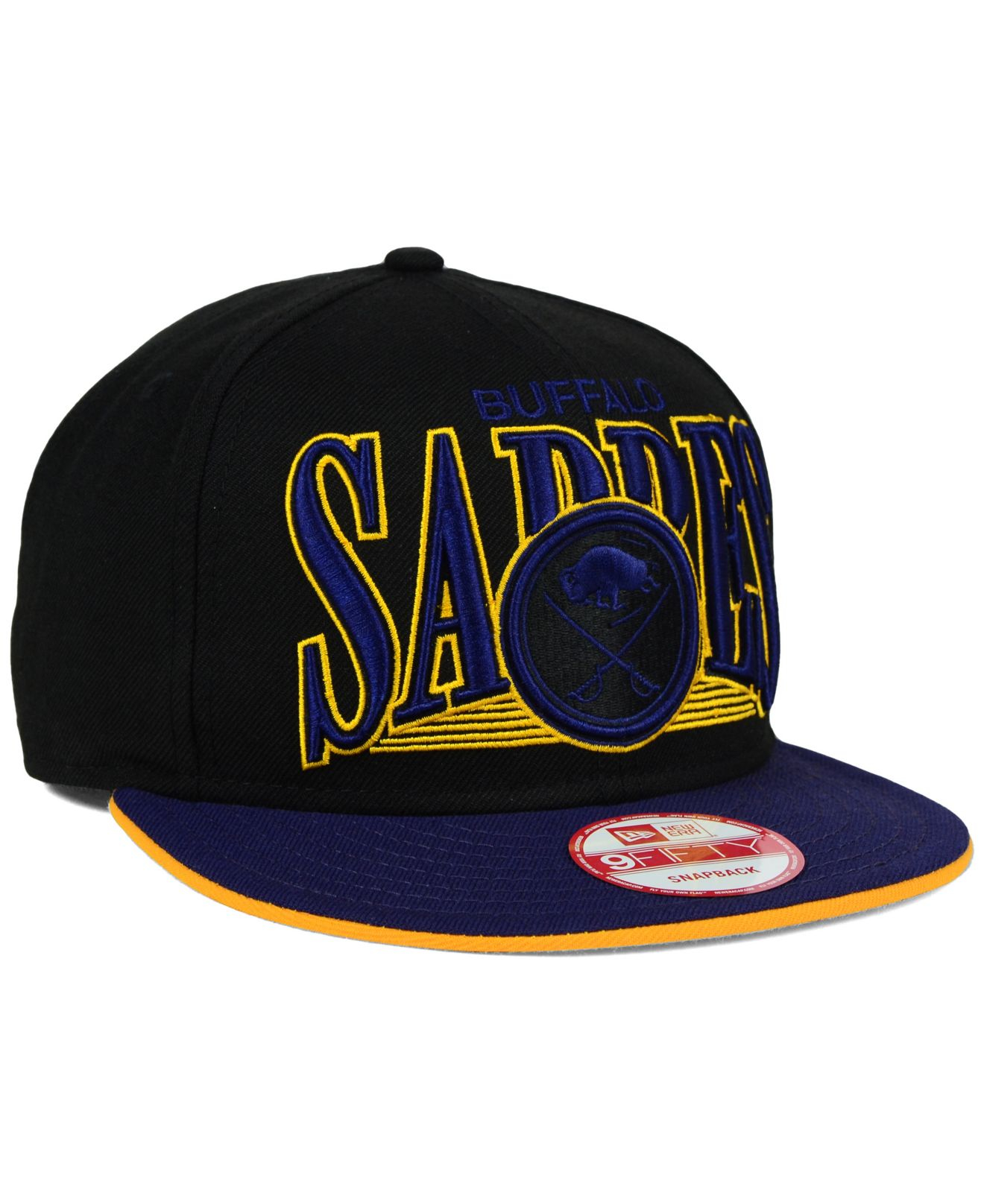 pretty nice a2293 96563 Lyst - KTZ Buffalo Sabres Ice Block 9fifty Snapback Cap in Black for Men
