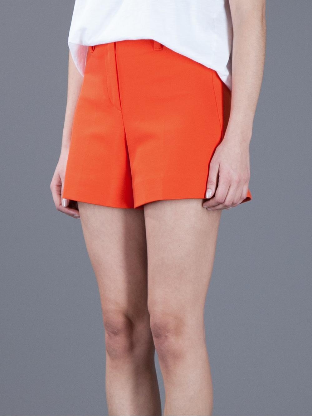 Sonia by sonia rykiel High Waisted Shorts in Orange | Lyst