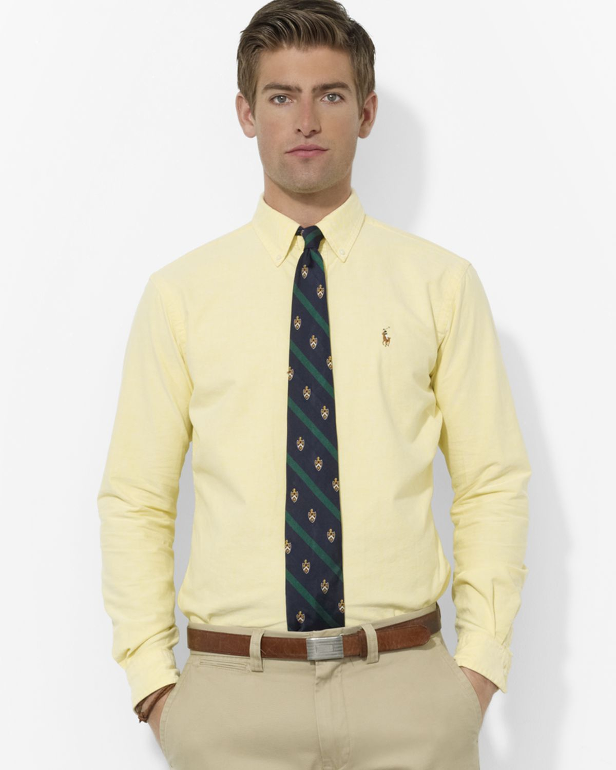 e42e2912a4e1 Gallery. Previously sold at  Bloomingdale s · Men s Ralph Lauren Classic  Men s Slim Shirts ...