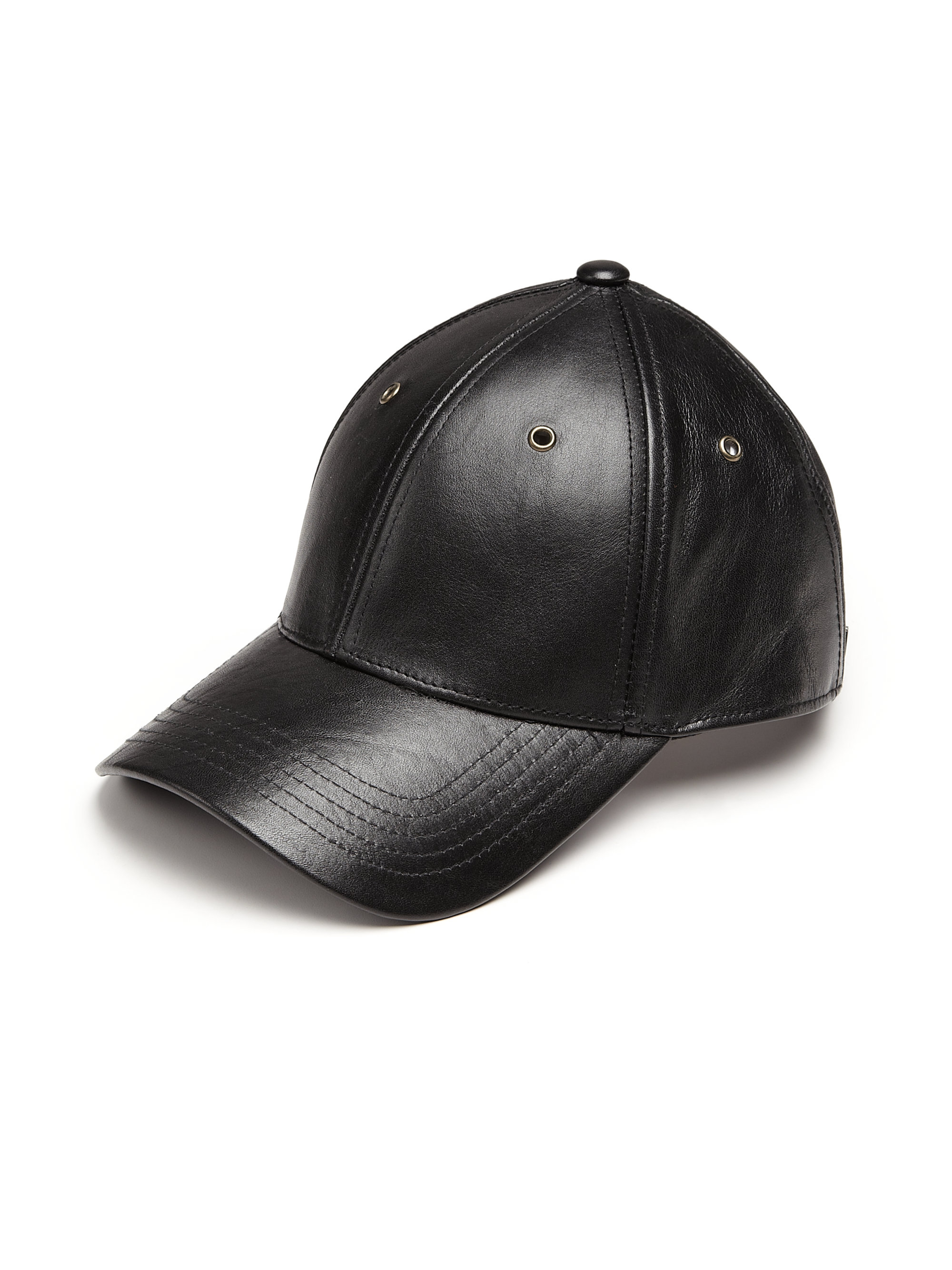 94fb77af52c Lyst - Marc By Marc Jacobs Leather Baseball Cap in Black for Men