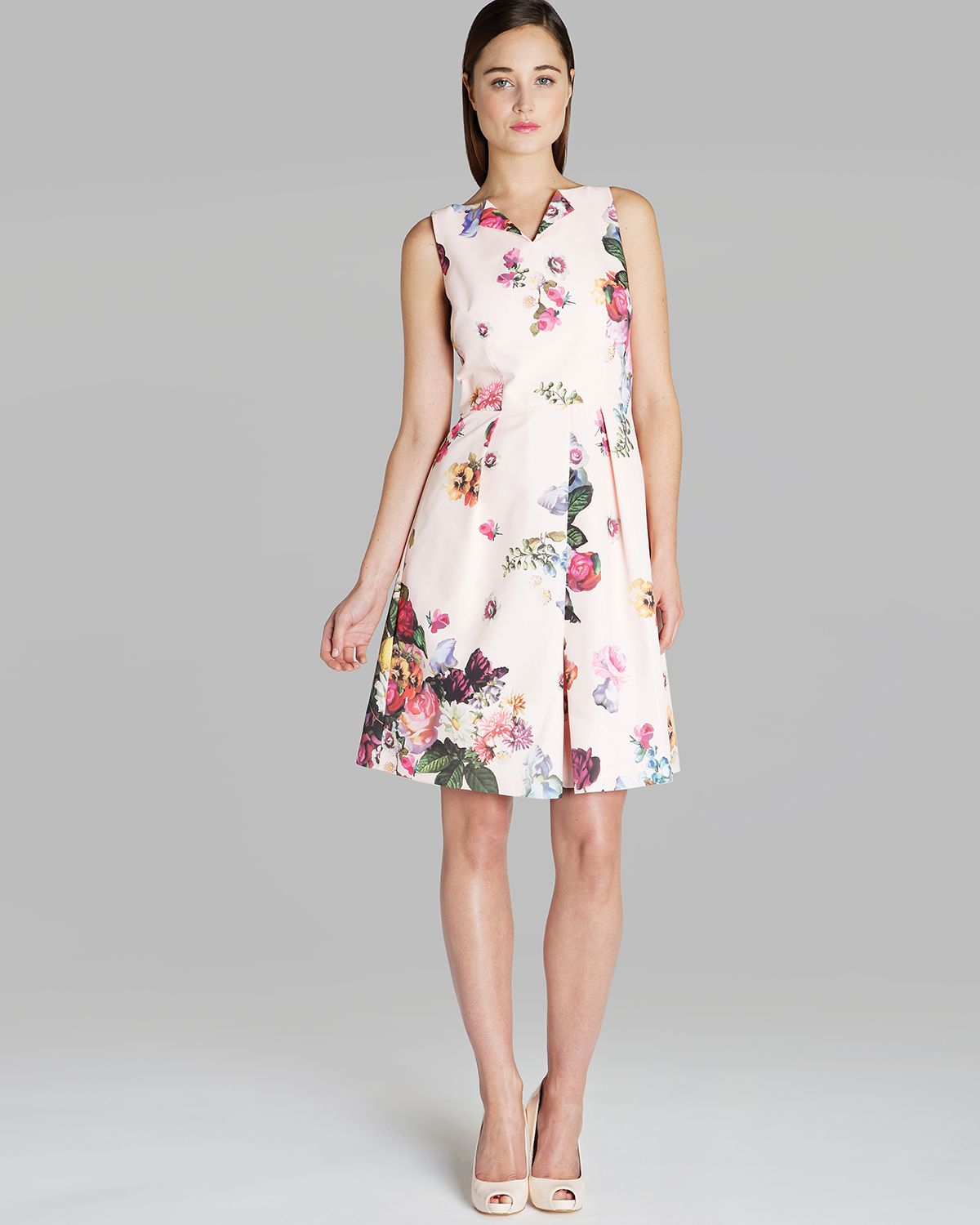 Flower Dress: Ted Baker Dress Deavon Floral Print In Pink