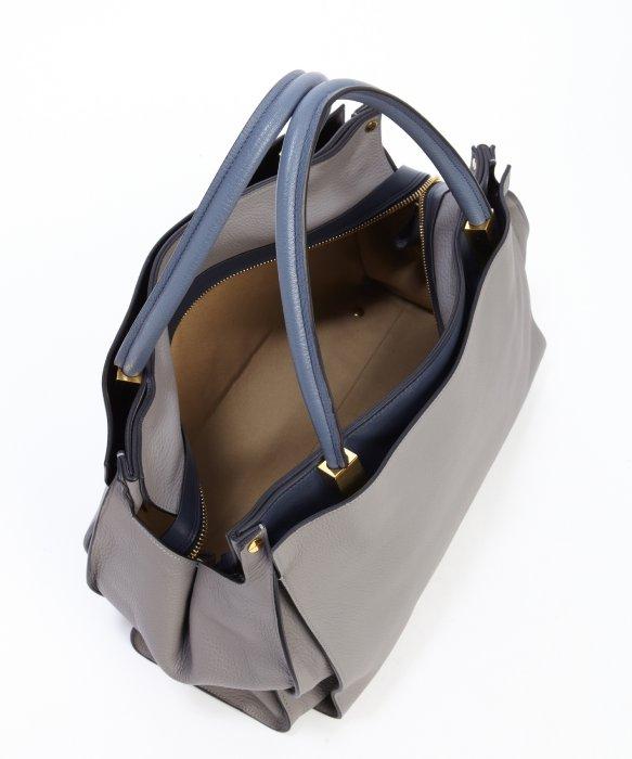 Chlo¨¦ Grey Leather Top Handle \u0026#39;Drew\u0026#39; Tote Bag in Gray (grey) | Lyst