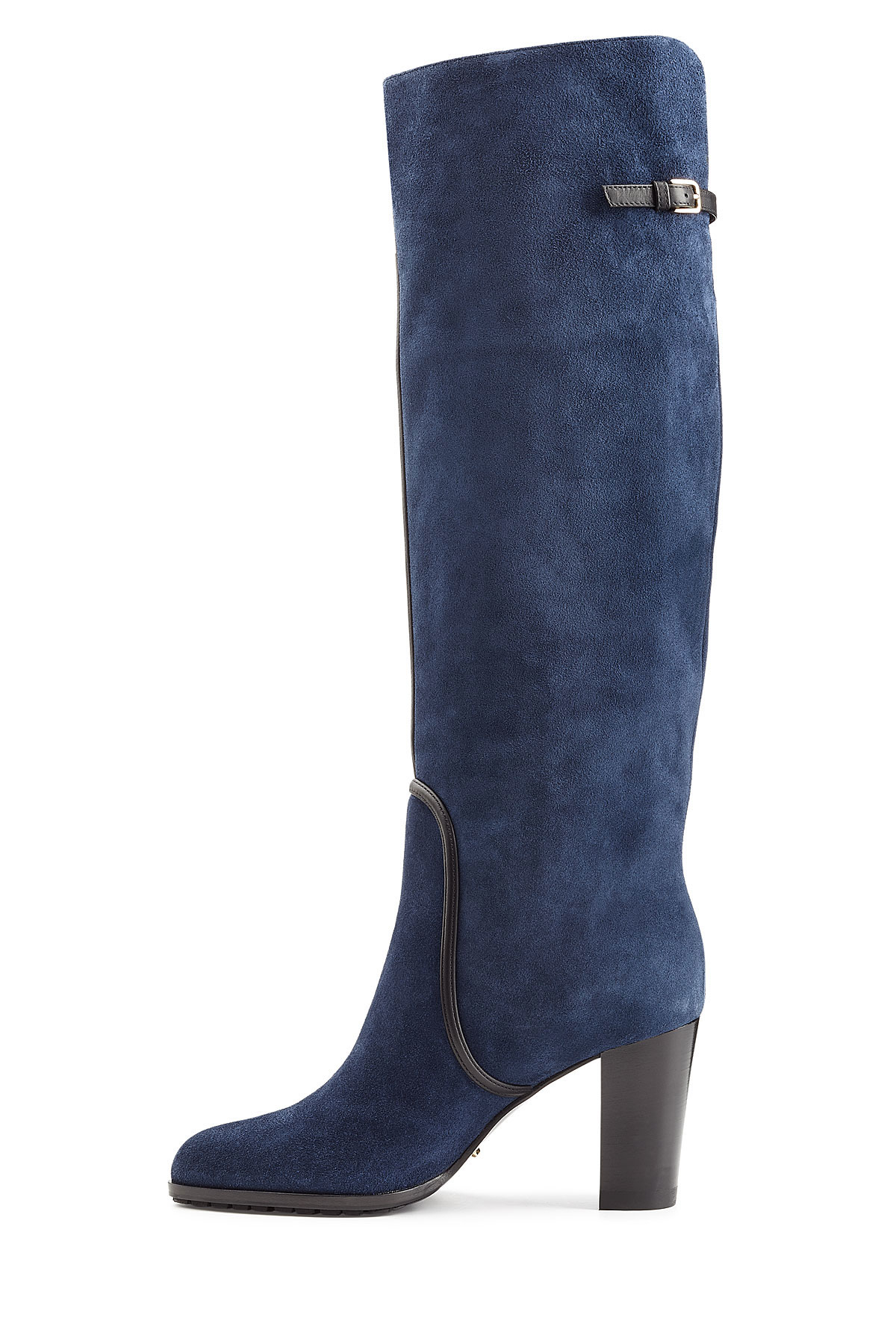 sergio suede knee boots blue in blue lyst