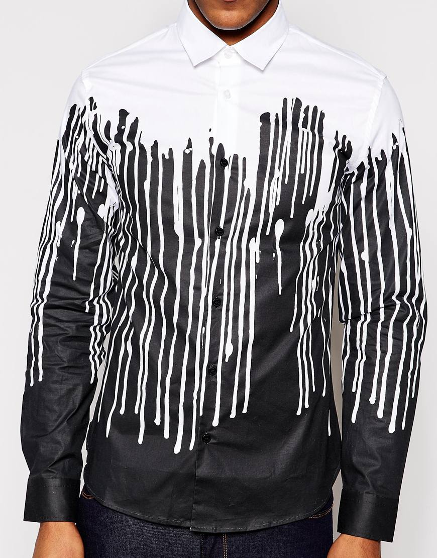 love moschino drip shirt in white for men lyst