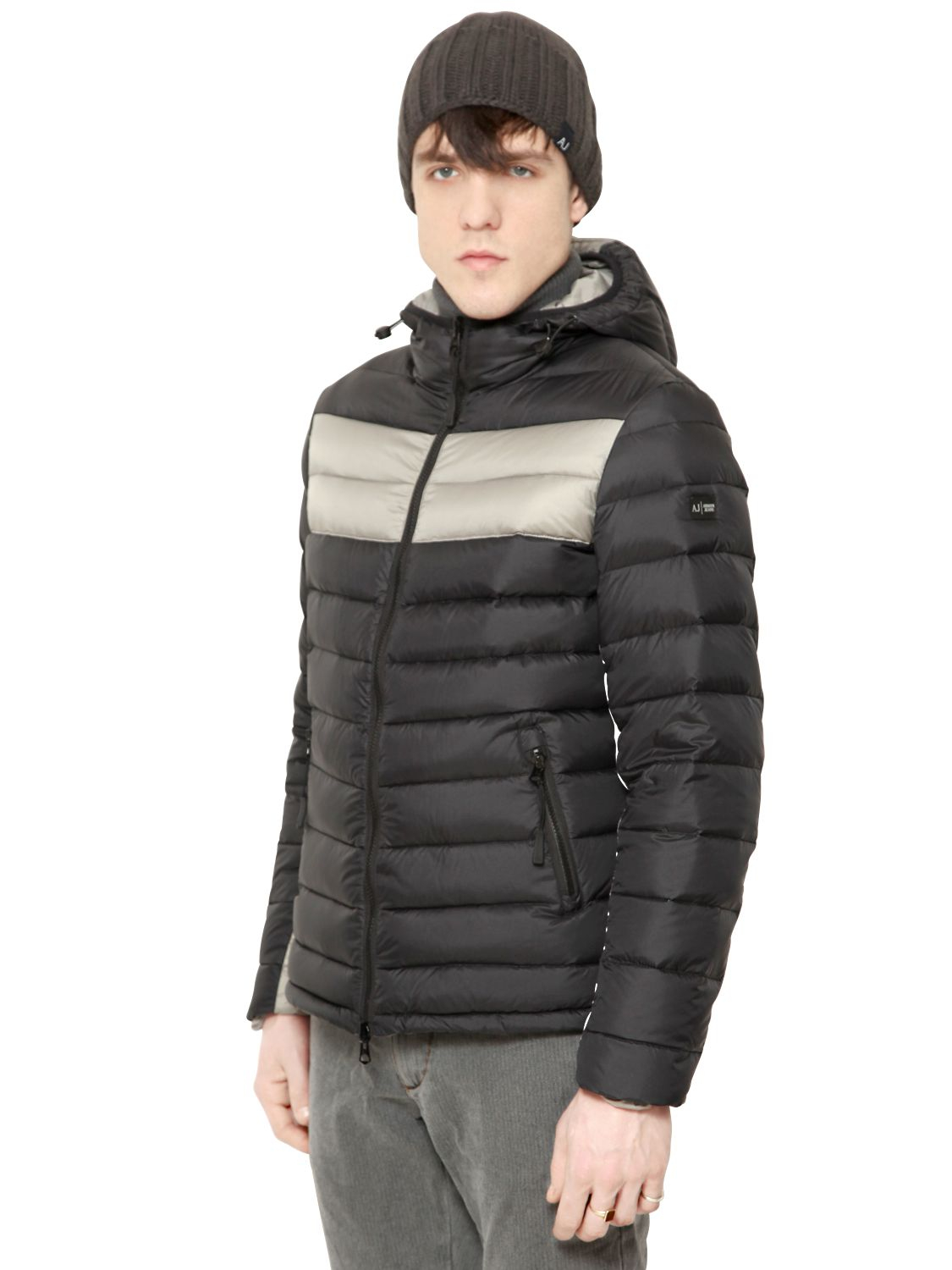 Lyst Armani Jeans Reversible Nylon Puffer Jacket In