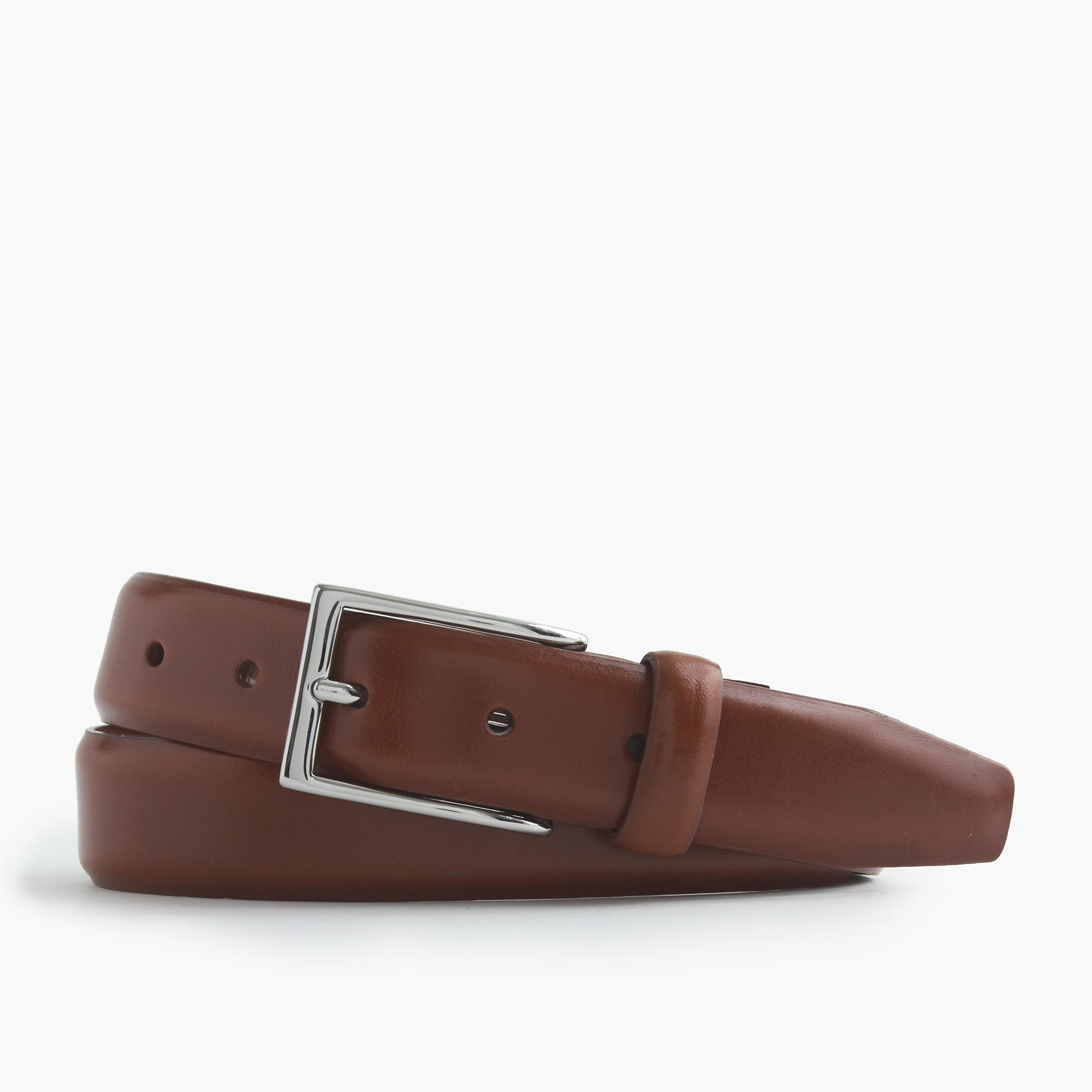 j crew leather dress belt in brown for lyst