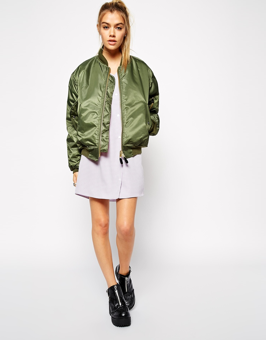 Asos Reclaimed Vintage Flying Bomber Jacket With Applique in ...
