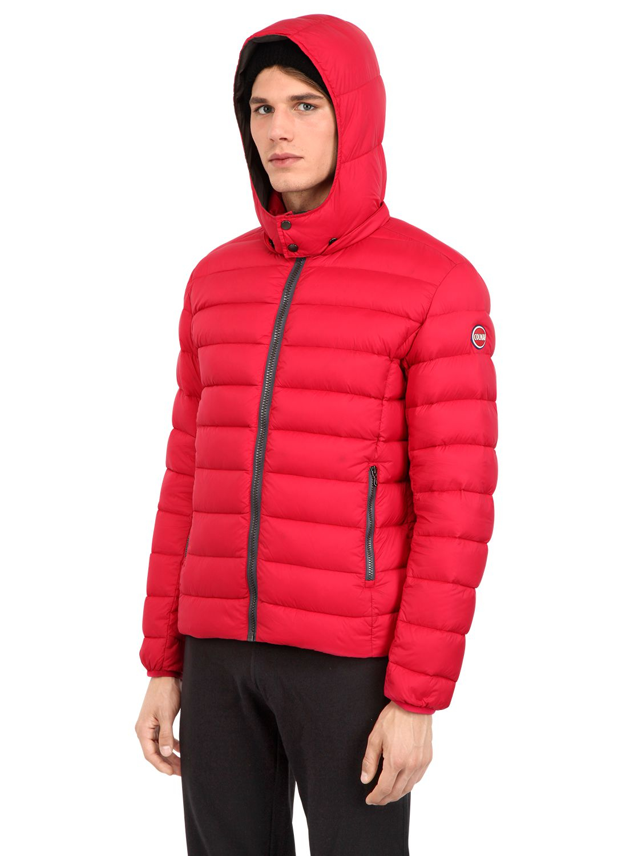 colmar honor nylon down jacket in red for men lyst. Black Bedroom Furniture Sets. Home Design Ideas