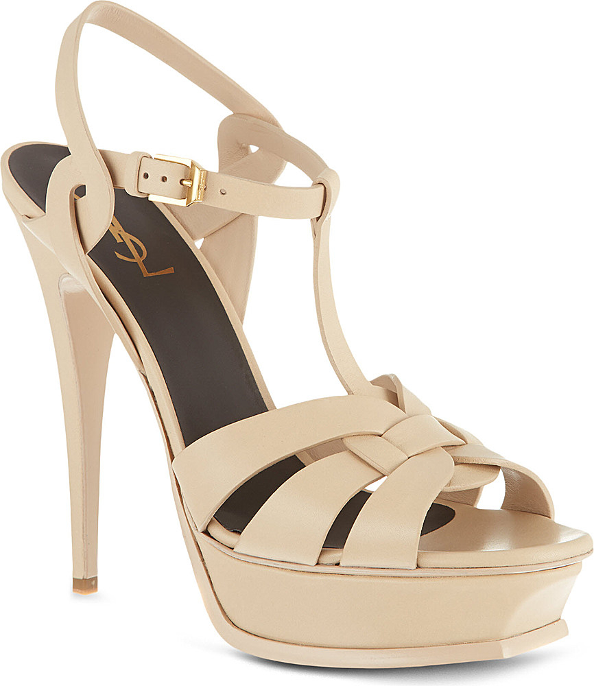 Saint Laurent Tribute 105 leather sandals best place to buy online MYPaZD