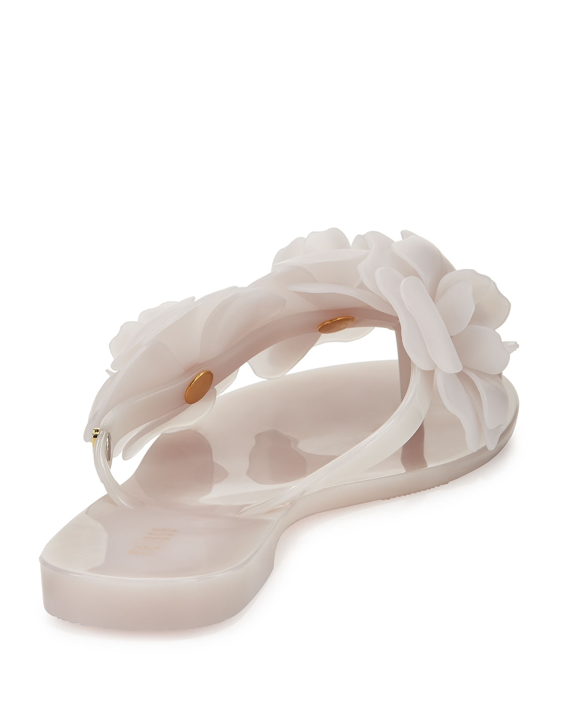 Melissa Harmonic Garden Flowerembellished Thong Sandals