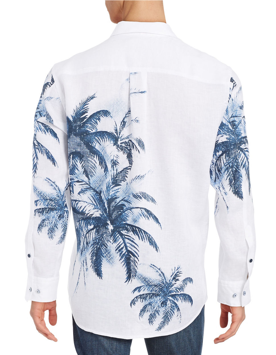 Tommy bahama palm frite linen sportshirt in blue for men for Where to buy tommy bahama shirts