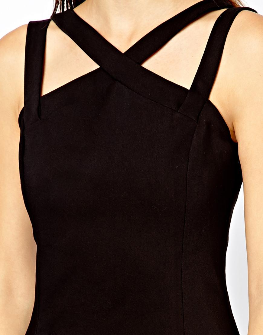 Lyst Mango Strappy Sexy Bodycon Dress In Black
