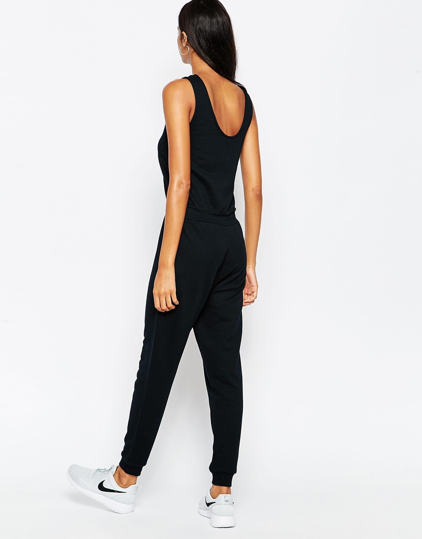 Lyst - Asos Casual Vest Jumpsuit With Draw String Waist in ...