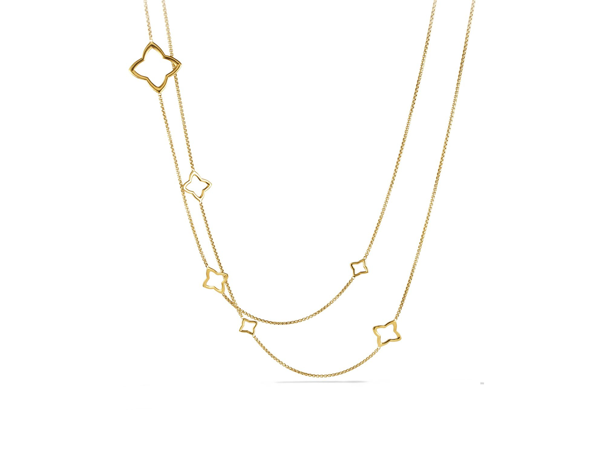Lyst david yurman quatrefoil chain necklace in yellow gallery aloadofball Choice Image