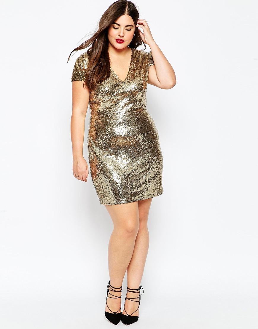 Gold Sequin Dresses Plus Size – DACC