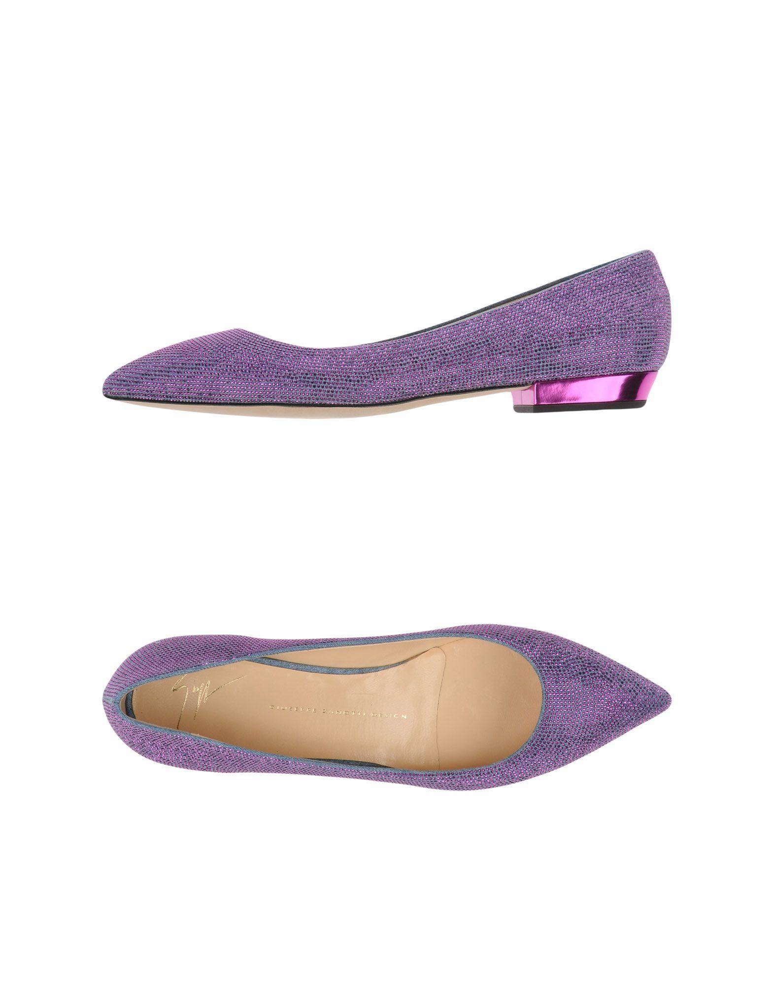 Giuseppe Zanotti Ballet Flats In Purple | Lyst