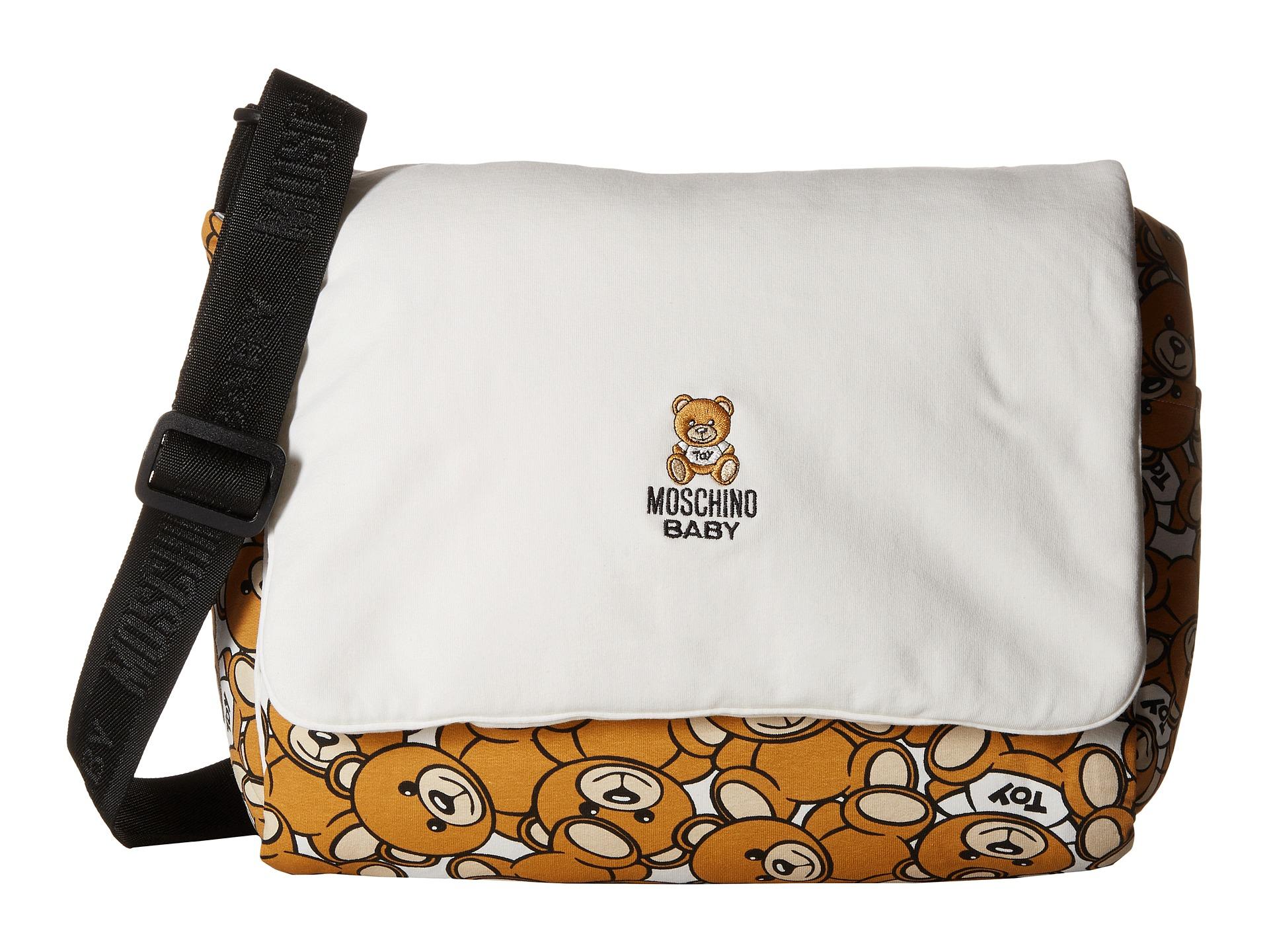 65e00795203c Lyst Moschino Teddy Bear Print Mummy Bag In White