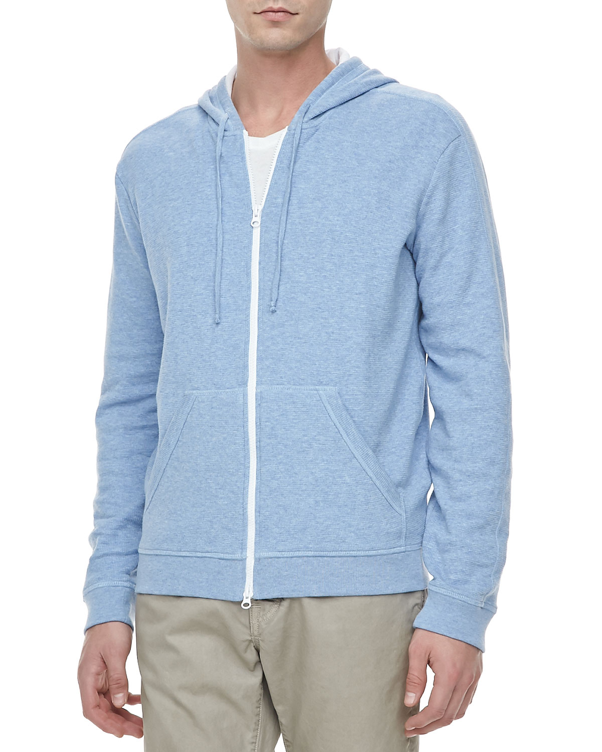 Images of Light Blue Hoodie Mens - Reikian