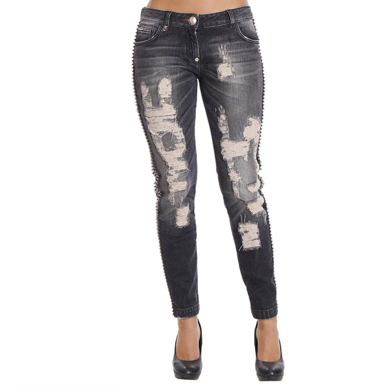 philipp plein women 39 s jeans in black lyst. Black Bedroom Furniture Sets. Home Design Ideas