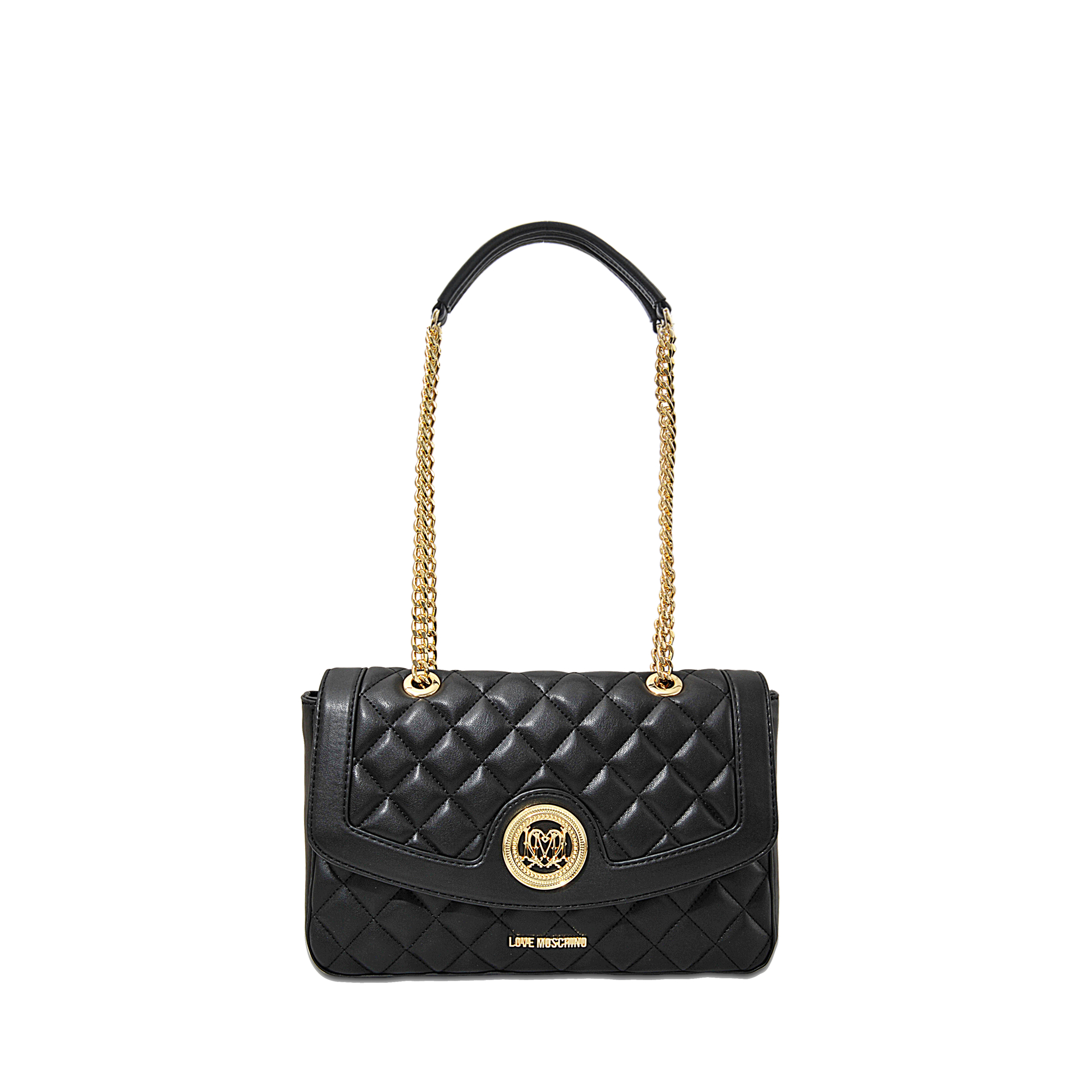 love moschino super quilted flap bag in black lyst. Black Bedroom Furniture Sets. Home Design Ideas