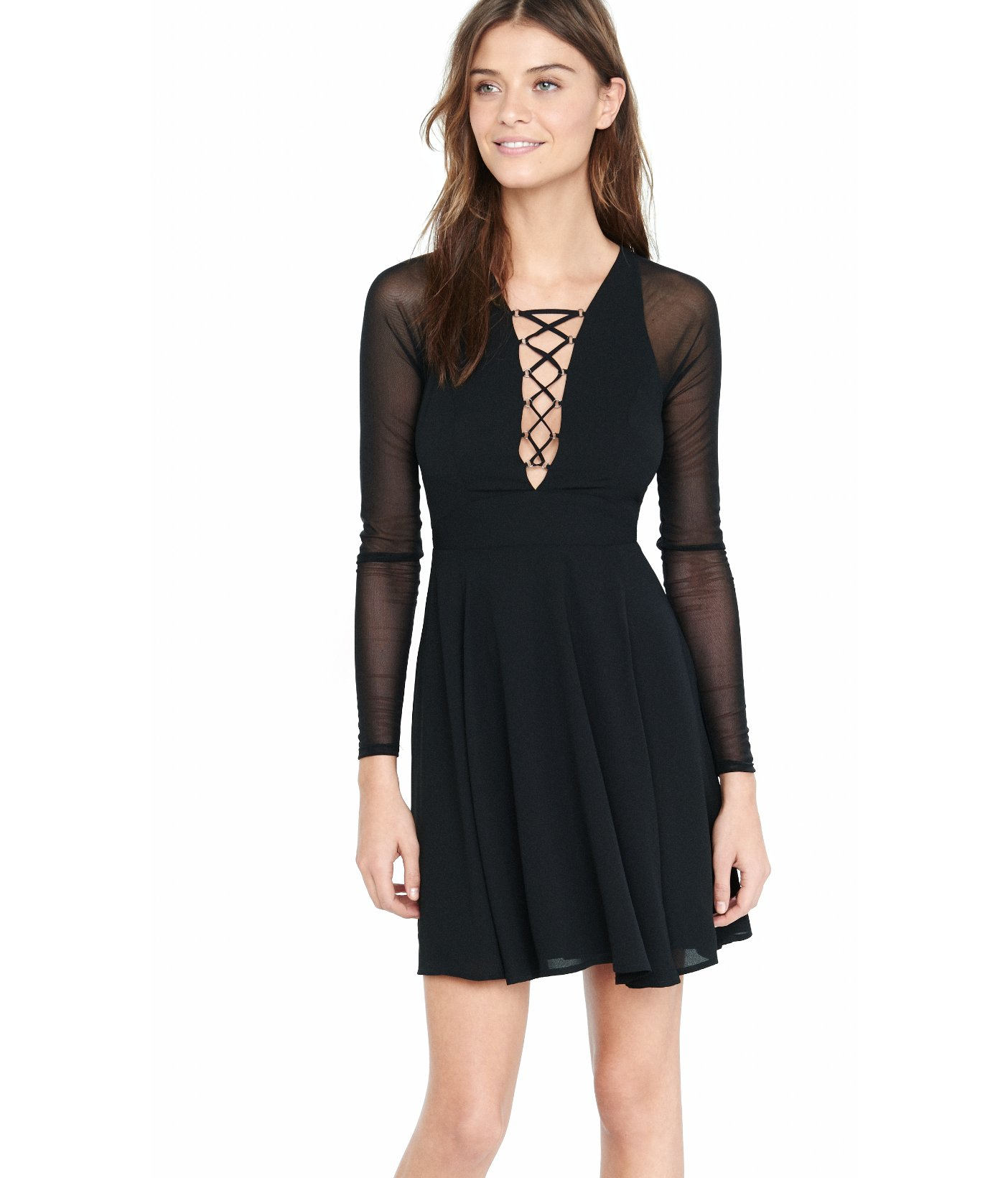 Black lace dress express