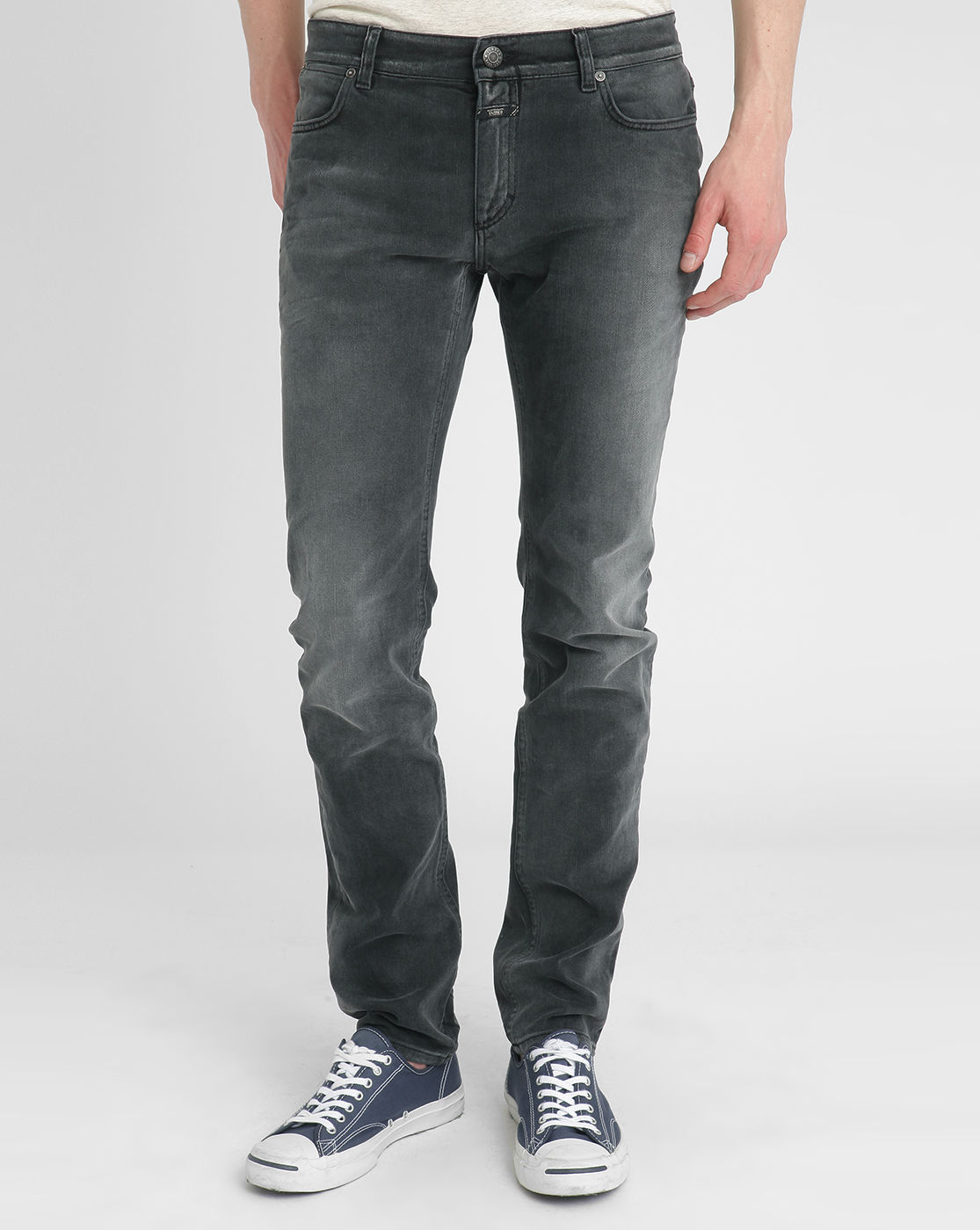 closed black stone washed slim fit jeans in black for men save 51 lyst. Black Bedroom Furniture Sets. Home Design Ideas