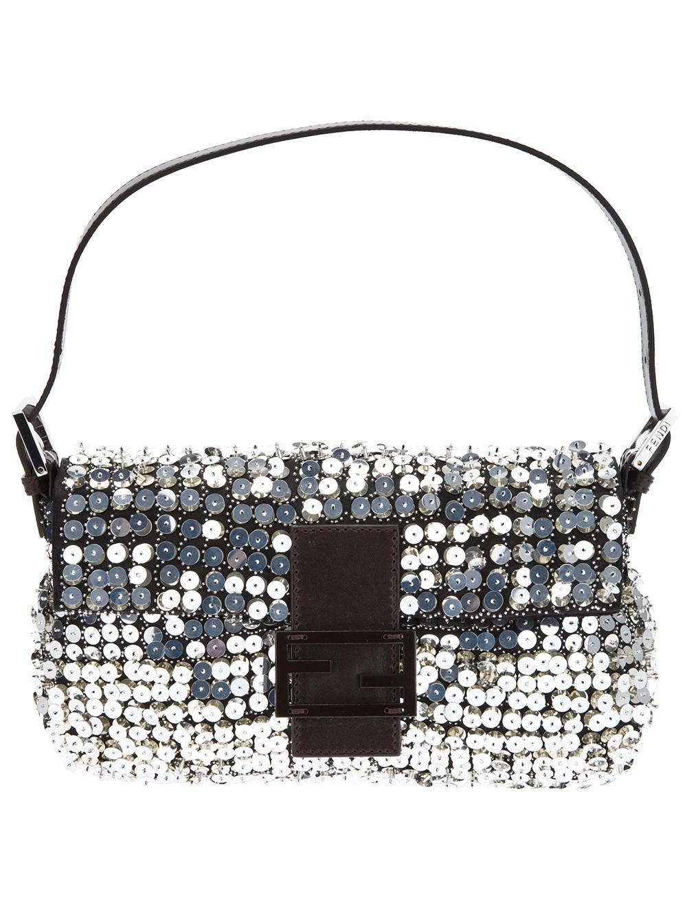 Lyst Fendi Sequin Baguette Bag In Metallic
