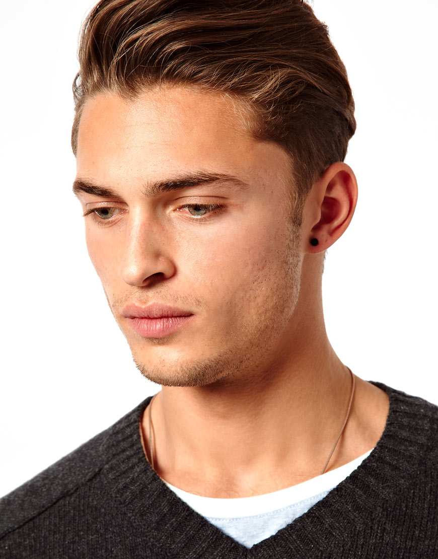 Asos Earring Pack with Skull and Star in Black for Men