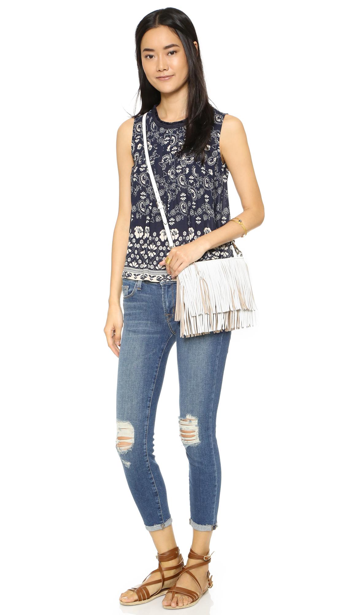 Lyst - Rebecca Minkoff Finn Cross Body Bag in White 0cc0a7c66923a