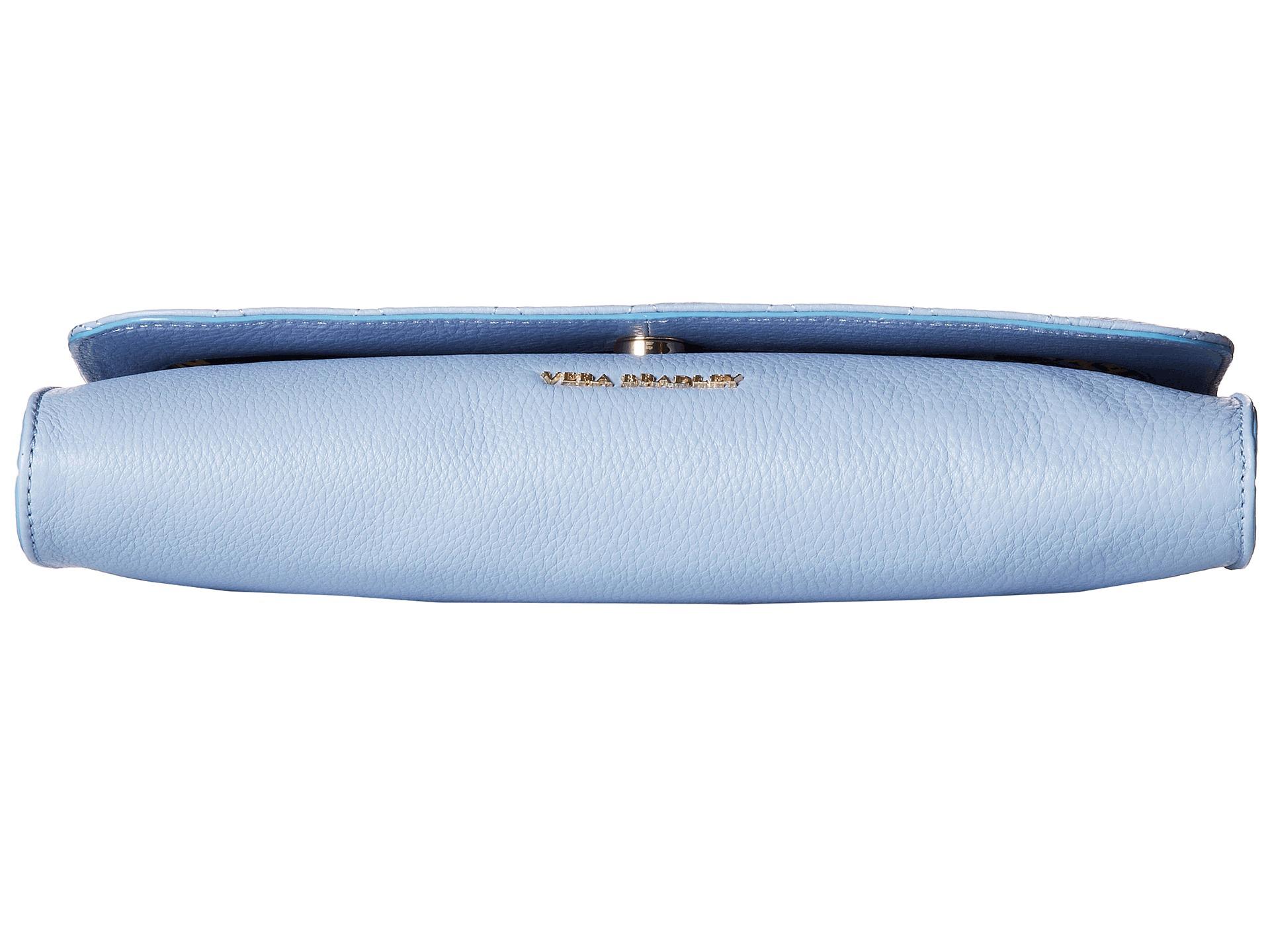 acff5f3b5900 Lyst - Vera Bradley Quilted Harper Clutch in Blue