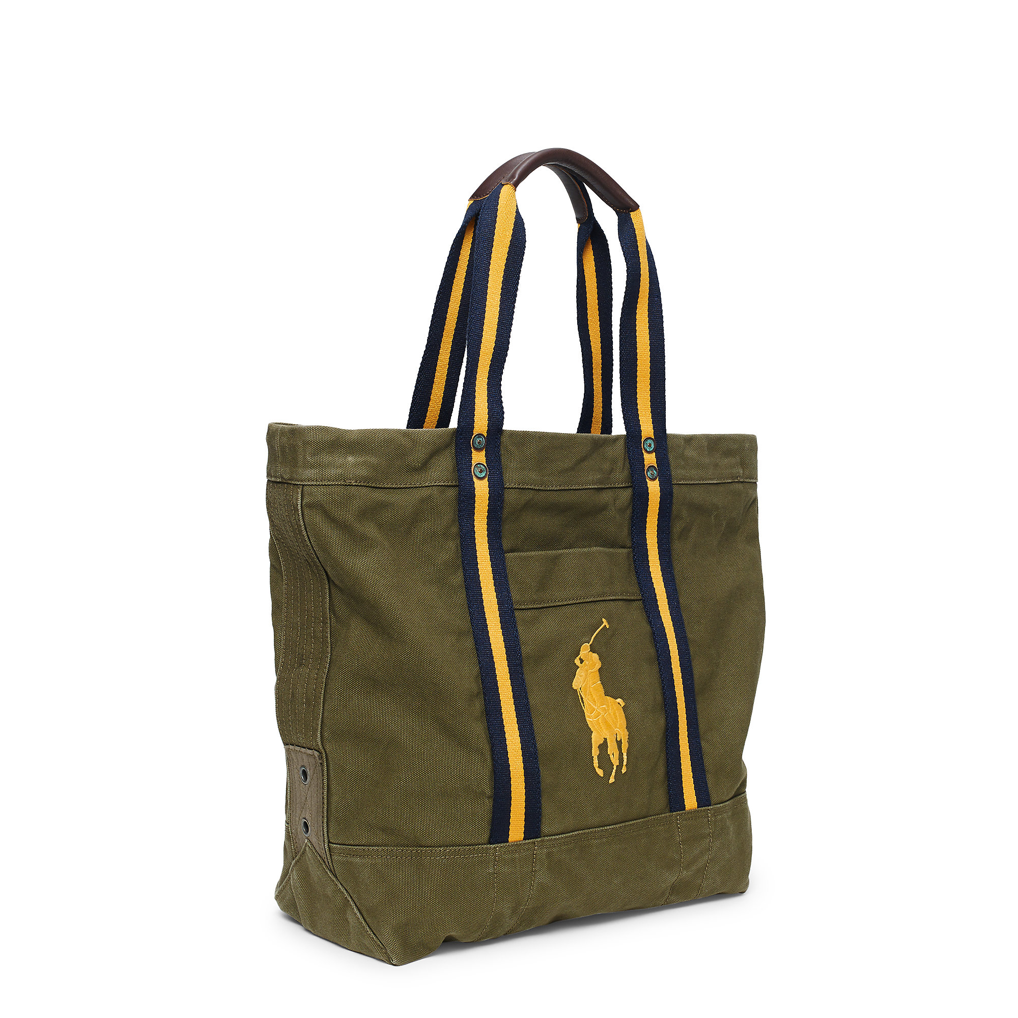 Polo ralph lauren Canvas Big Pony Tote in Green for Men | Lyst